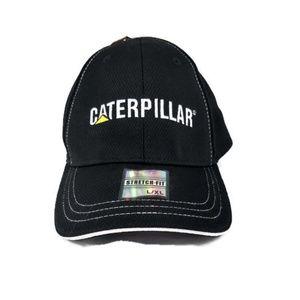 CAT Caterpillar L/XL Black Embroidered Stretch-Fit